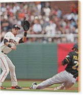 Joe Panik and Gregory Polanco Wood Print