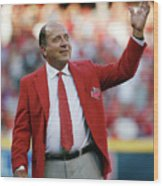 Johnny Bench Wood Print