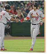 Jose Oquendo and Mark Reynolds Wood Print
