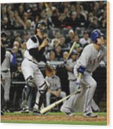 Josh Hamilton and Jorge Posada Wood Print