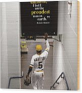 Josh Harrison and Roberto Clemente Wood Print