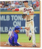 Juan Lagares and Jace Peterson Wood Print