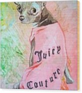 Juicy Couture Pup Wood Print