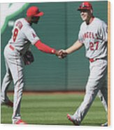 Justin Upton and Mike Trout Wood Print
