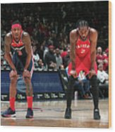 Kawhi Leonard and Bradley Beal Wood Print