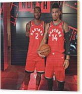 Kawhi Leonard and Danny Green Wood Print