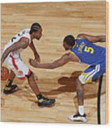 Kawhi Leonard and Kevon Looney Wood Print