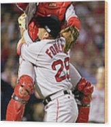 Keith Foulke and Jason Varitek Wood Print