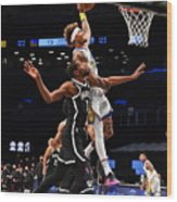 Kelly Oubre and Kevin Durant Wood Print