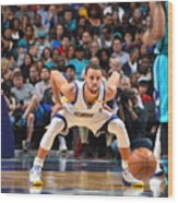 Kemba Walker and Stephen Curry Wood Print