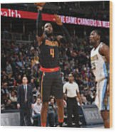 Kenneth Faried and Paul Millsap Wood Print