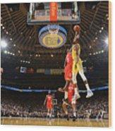 Kevin Durant and Clint Capela Wood Print
