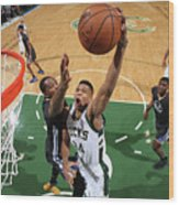 Kevin Durant and Giannis Antetokounmpo Wood Print