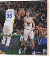 Kevin Durant and Klay Thompson Wood Print