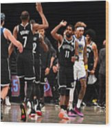 Kevin Durant and Kyrie Irving Wood Print