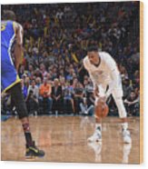 Kevin Durant and Russell Westbrook Wood Print