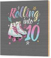 FANTASTIC ROLLER SKATES /& LOLLY POPS TEN TODAY 10TH BIRTHDAY GREETING CARD