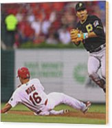 Kolten Wong and Jung Ho Kang Wood Print
