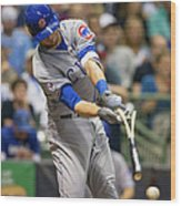 Kris Bryant and Jimmy Nelson Wood Print