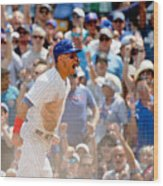 Kyle Schwarber and Willson Contreras Wood Print