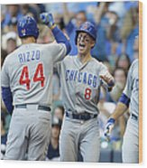 Kyle Schwarber, Anthony Rizzo, and Chris Coghlan Wood Print