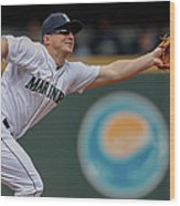 Kyle Seager and Chris Denorfia Wood Print