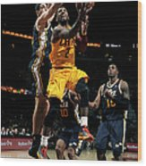 Kyrie Irving and Enes Kanter Wood Print