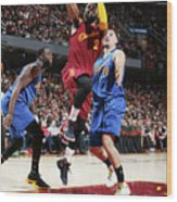 Kyrie Irving and Klay Thompson Wood Print