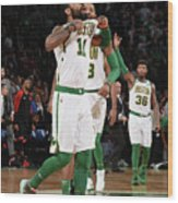 Kyrie Irving and Marcus Morris Wood Print