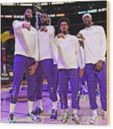 LA Clippers v Los Angeles Lakers Wood Print