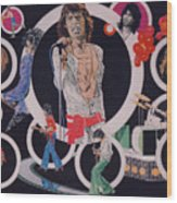 Ladies And Gentlemen - The Rolling Stones Wood Print