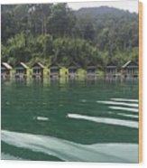Lake And Trees At Khao Sok National Park Wood Print