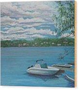 Lake Quinsigamond In Massachusetts Acrylic Wood Print