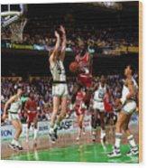 Larry Bird and Michael Jordan Wood Print