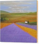 Lavendar Fields Wood Print