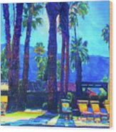 Lazy Day by the Pool Wood Print