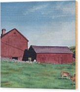 Local Farm Wood Print