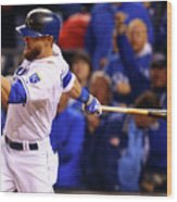 Lorenzo Cain, Alex Gordon, and Wei-yin Chen Wood Print