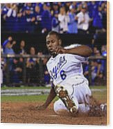 Lorenzo Cain and Billy Butler Wood Print