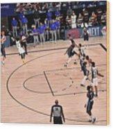 Los Angeles Clippers v Dallas Mavericks - Game Four Wood Print