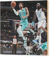 Los Angeles Lakers v Charlotte Hornets Wood Print