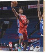 Los Angeles Lakers v Philadelphia 76ers Wood Print