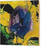Lotus - Midnight Bloom Wood Print