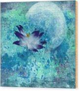 Lotus Moon Wood Print