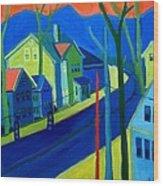 Lowell Deluge Wood Print