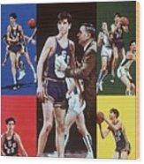 Lsu Pete Maravich Sports Illustrated Cover Wood Print
