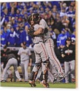 Madison Bumgarner and Buster Posey Wood Print