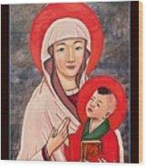 Madonna and Child Wood Print
