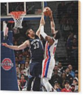 Marc Gasol and Andre Drummond Wood Print