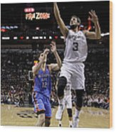 Marco Belinelli and Steven Adams Wood Print
